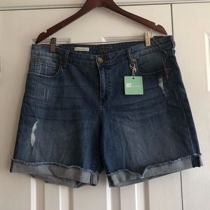 Kut from the Kloth Jean Boyfriend Shorts Size 16